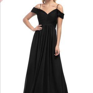 Azazie black bridesmaid dress